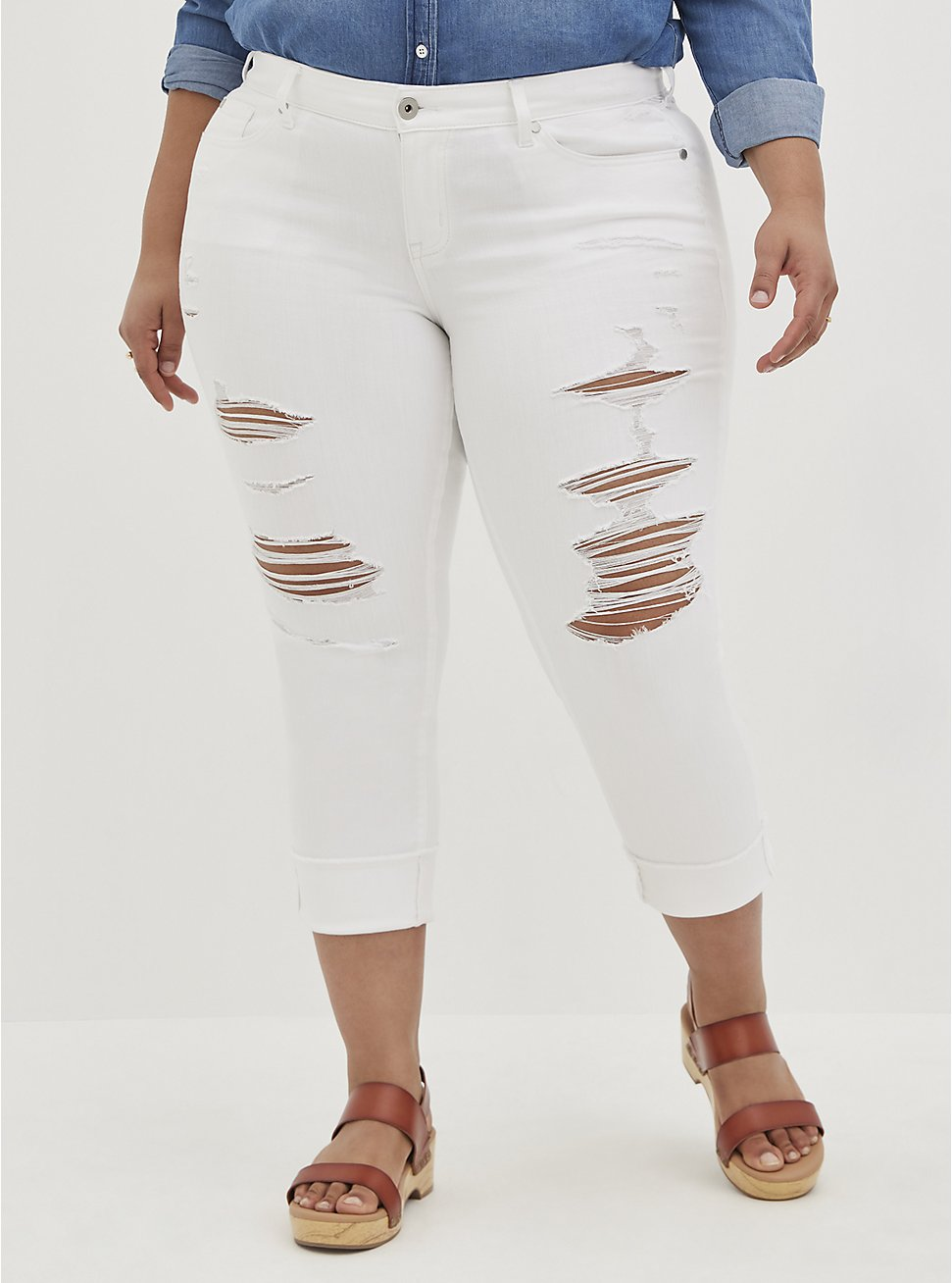 Crop Boyfriend Jean - Vintage Stretch White , OPTIC WHITE, hi-res