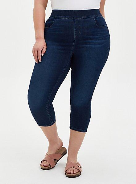 Crop Lean Jean - Super Soft Dark Wash , HYDROSPHERE, hi-res