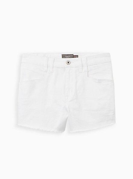 Mid Rise Shortie Short - Vintage Stretch White, OPTIC WHITE, hi-res