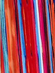 Harper - Rainbow Brush Strokes Georgette Pullover Blouse , STRIPE - MULTI, alternate