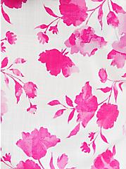 Pink Floral Button-Front Puff Sleeve Top , FLORAL - PINK, alternate