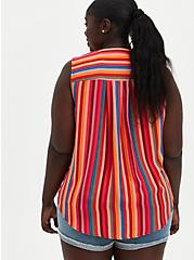 Harper - Multicolor Stripe Gauze Sleeveless Tunic, STRIPE - MULTI, alternate