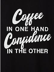 Classic Fit Crew Tee - Coffee Confidence Black, DEEP BLACK, alternate