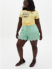Classic Fit - Literally Don't Care Yellow Crew Tee , SUNDRESS, alternate