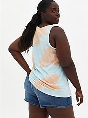 Classic Fit Tank - Triblend Jersey Tie Dye Pineapple Blue , ICED AQUA, alternate