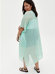 Green Sharkbite Clip-Dot Kimono , GRAYED JADE, alternate