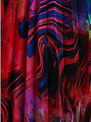 Multicolor Chiffon Pleated Maxi Kimono, , alternate