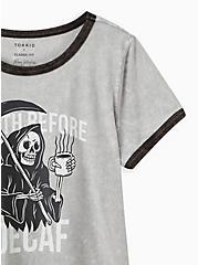 Classic Fit Ringer Tee - Heritage Slub Grey Mineral Wash Death Decaf, GREY, alternate