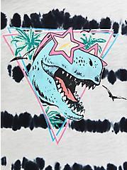 Classic Fit Ringer Tee - Heritage Slub Black & White T-Rex , DEEP BLACK, alternate
