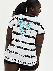 Classic Fit Ringer Tee - Heritage Slub Black & White T-Rex , DEEP BLACK, hi-res