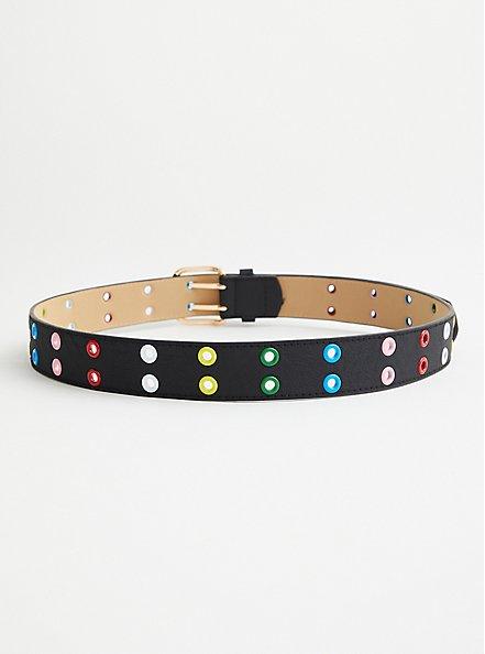 Multi Color Grommet Belt, MULTI, alternate