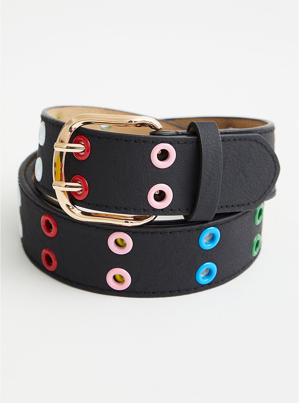 Multi Color Grommet Belt, MULTI, hi-res