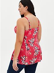 Pink Floral Fit & Flare Cami, FLORAL - PINK, alternate