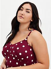 Red Polka Dot Super Soft Tiered Skater Maxi Dress , DOTS - RED, alternate