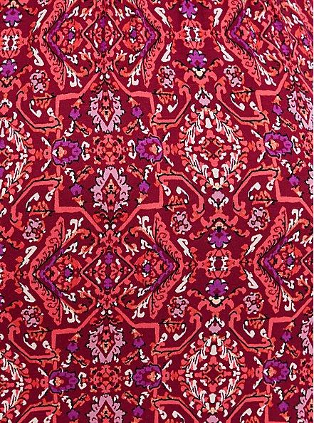 Red Medallion Super Soft Tiered Midi Skater Dress , MULTI MEDALLION, alternate