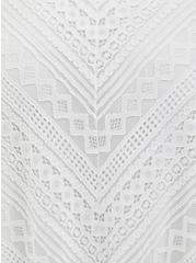 White Lace Handkerchief Skater Midi Dress , BRIGHT WHITE, alternate