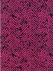 Pink Herringbone Challis Zip-Front Shirtdress , CHEVRON PRINT, alternate