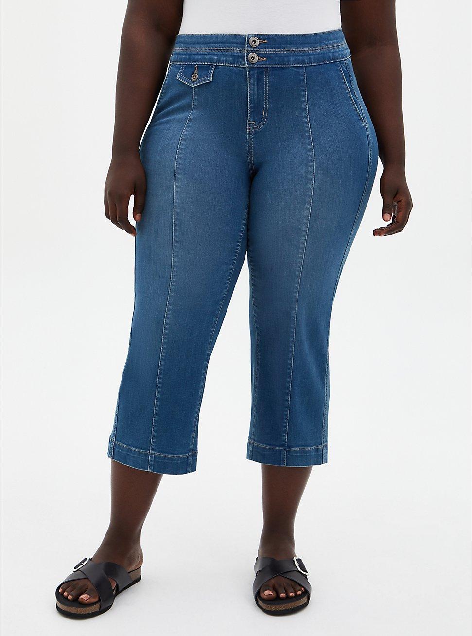 Crop High Rise Wide Leg Jean - Super Soft Medium Wash, , fitModel1-hires