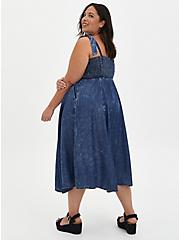 Chambray Wash Smocked Midi Dress , CHAMBRAY, alternate
