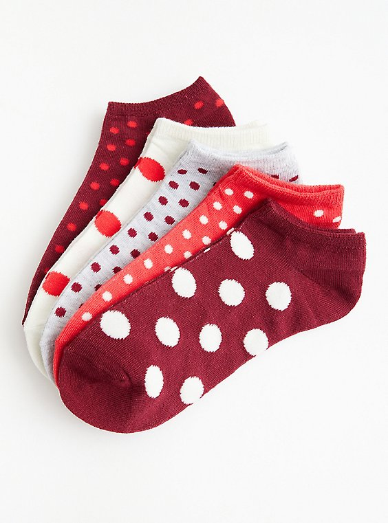 Dotted Multi Pack No Shows - Pack of 5, MULTI, hi-res