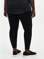 Premium Leggings - Knee Destruction Black , BLACK, alternate