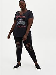 Premium Leggings - Knee Destruction Black , BLACK, hi-res