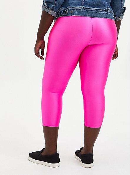 Pedal Pusher Premium Legging - Liquid Neon Pink , PINK, alternate