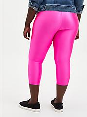 Plus Size Pedal Pusher Premium Legging - Liquid Neon Pink , PINK, alternate