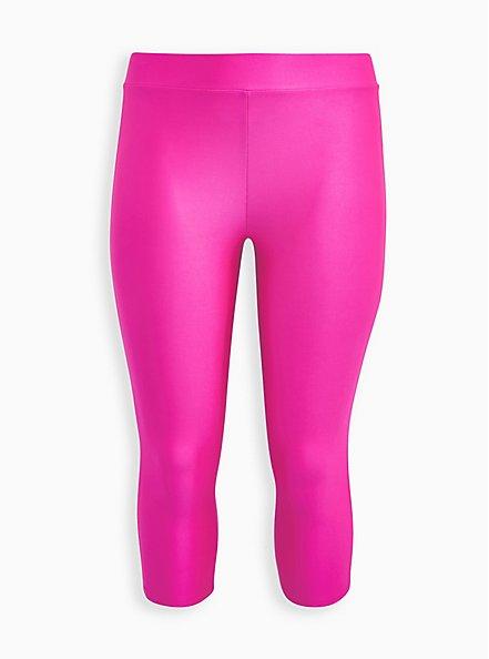 Pedal Pusher Premium Legging - Liquid Neon Pink , PINK, hi-res