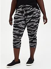 Pedal Pusher Premium Legging - Black & Grey Camo, MULTI, alternate