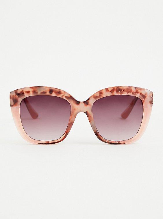 Blush Pink Tortoise Cat Eye Sunglasses, , hi-res