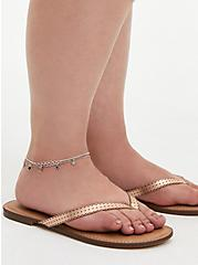 Plus Size Silver Tone Star & Moon Anklet , , alternate