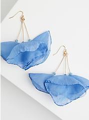 Light Blue Hanging Earrings, , alternate