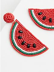 Watermelon Beaded Statement Earring, , hi-res