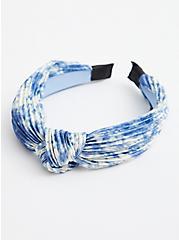 Navy Tie Dye Knot Headband, , hi-res