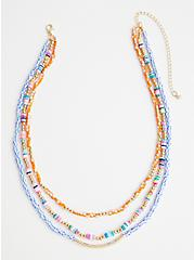 Multi Color Beaded Layered Necklace, , alternate