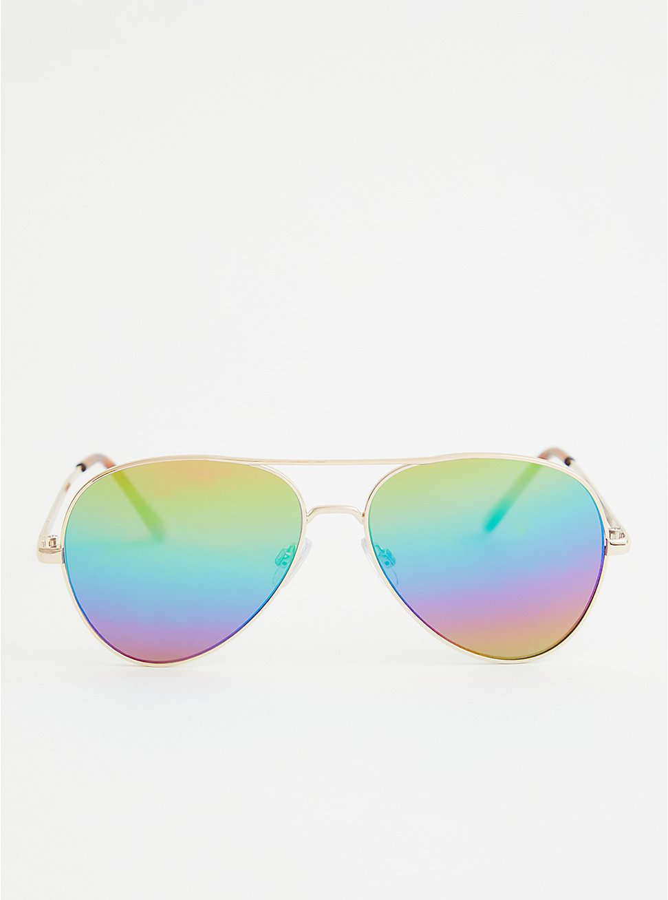 Gold Tone Rainbow Reflected Aviators, , hi-res