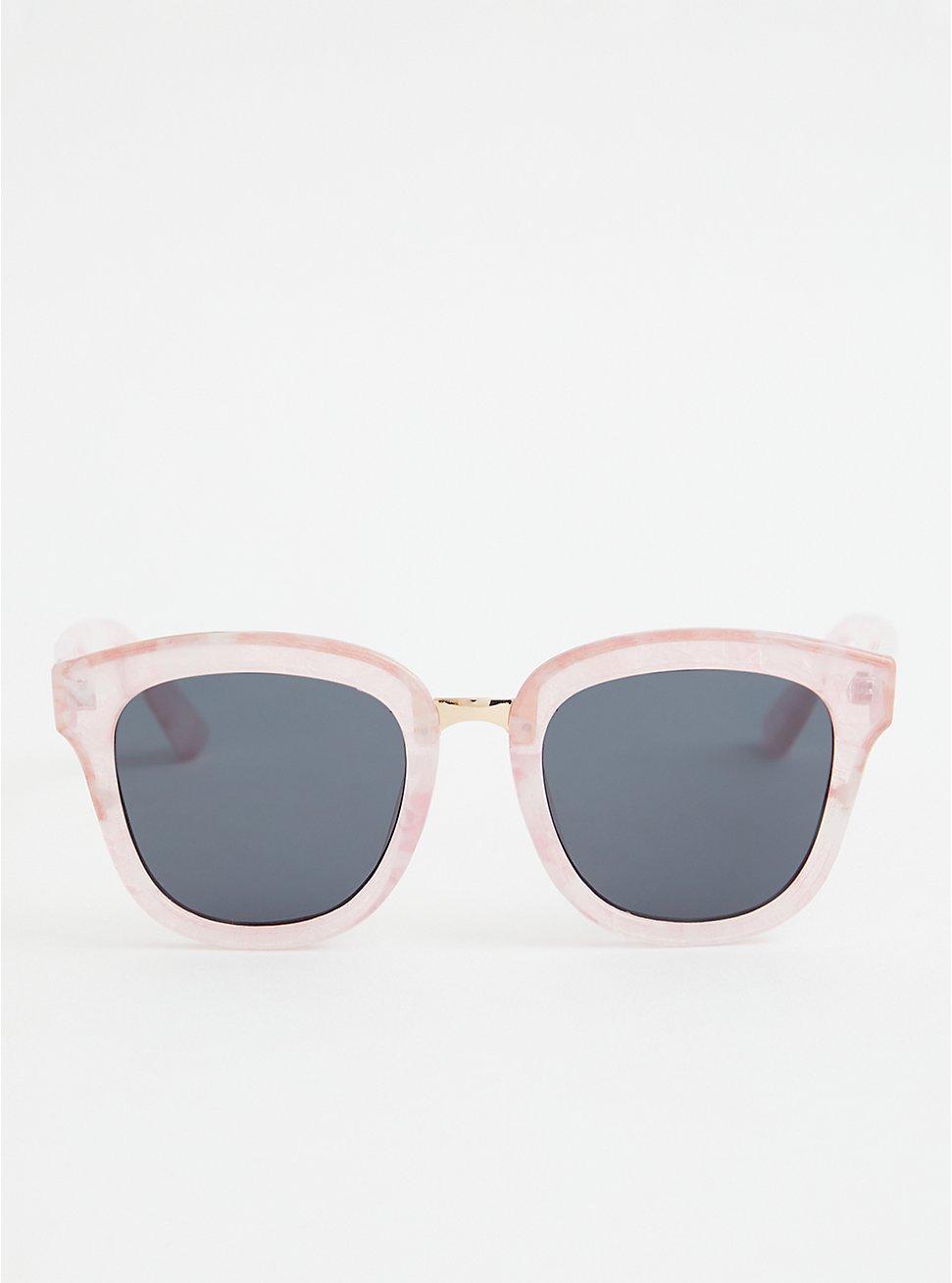 Plus Size Pink Cat Eye Sunglasses, , hi-res