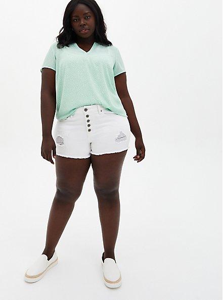 Green Dot Georgette Hi-Lo Blouse, DOTS - GREEN, alternate
