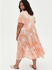 Peach Tie-Dye Clip-Dot Kimono, TIE DYE-PINK, alternate