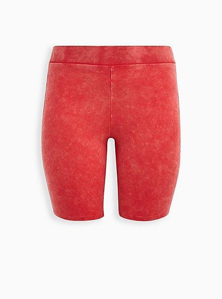 Berry Mineral Wash Bike Short , RED, hi-res