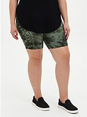 Olive Tie Dye Bike Short , GREEN, alternate