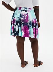 Purple Tie-Dye Super Soft Tiered Mini Circle Skirt, TIE DYE, alternate