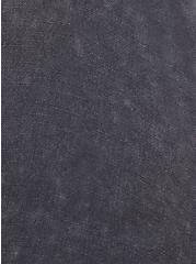 Drop Shoulder Button-Front Top - Mineral Wash Grey, NINE IRON, alternate