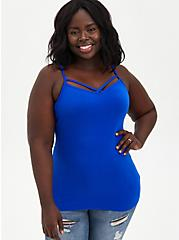 Blue Strappy Foxy Cami , ELECTRIC BLUE, alternate
