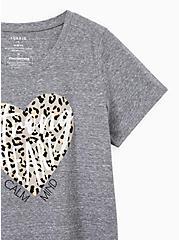 #TorridStrong Leopard Heart Slim Fit Tee - Triblend Jersey Grey , MEDIUM HEATHER GREY, alternate