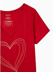 #TorridStrong Heart Slim Fit Tee - Red, JESTER RED, alternate