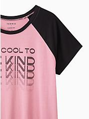 Raglan Tee - Triblend Jersey Pink Be Kind, POLIGNAC, alternate