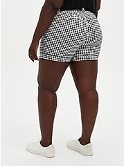 Belted Mid Short - Black & White Gingham Sateen, , alternate