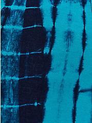 Blue Tie-Dye Linen Shortall, TIE DYE - BLYE, alternate